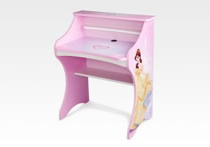 This new Disney Princess Computer Desk is designed with an authentic Disney Princess color scheme and feature little one's favorite princesses like Bella and Cinderella.