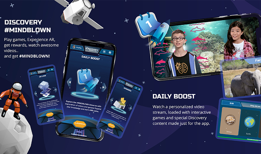 Discovery Launches #MINDBLOWN App