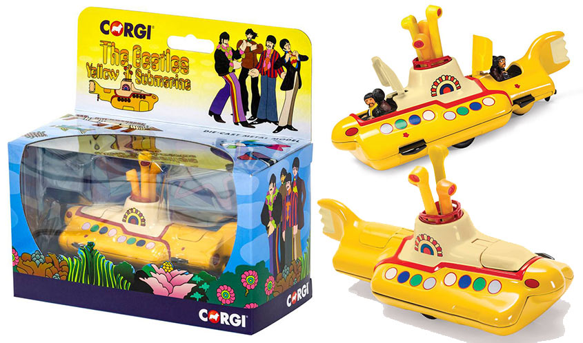 Hornby America Brings Back the Iconic CORGI Beatles Yellow Submarine
