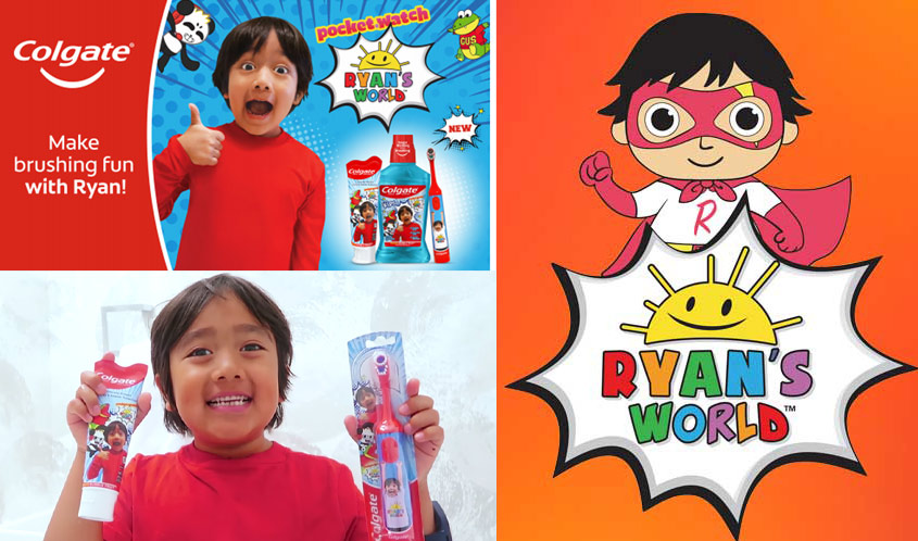 Ryan's World Inks Deal with Colgate for Kids Oral Care Line