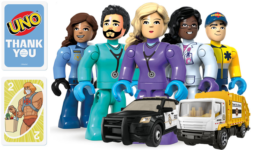 Mattel Expands #ThankYouHeroes Collection with Matchbox, UNO, and Mega Construx Toys