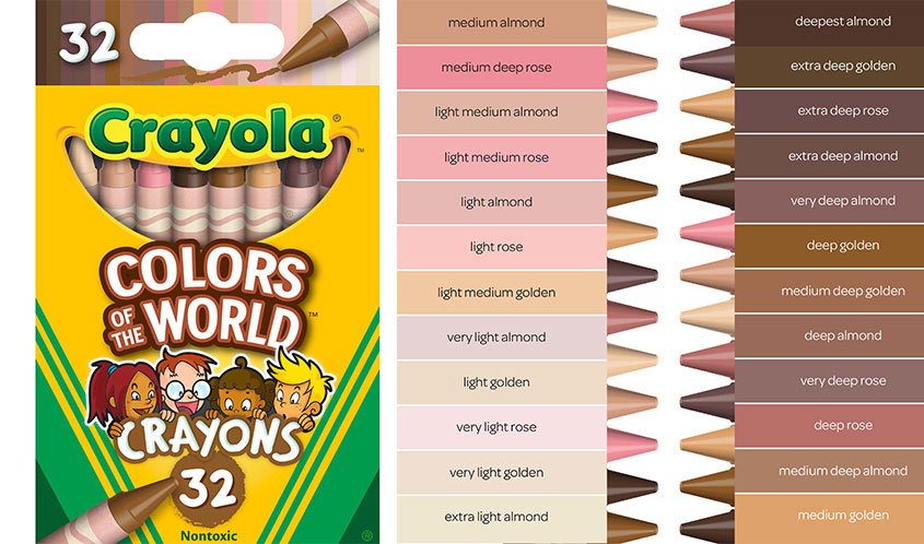 Crayola Unveils New Crayons that Represent Kids of All Colors